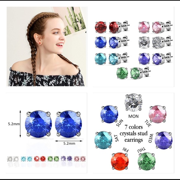 Jewelry - BEAUTIFUL 🦋 CRYSTAL STUD EARRINGS for EVERYDAY
